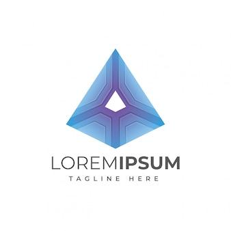 Ilustração em vetor abstrato triângulo logotipo