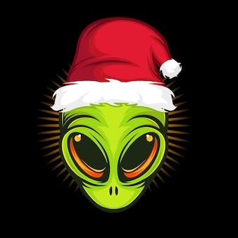 Ilustração em vetor alienígena santa