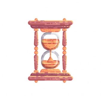 Ilustração em vetor ampulheta relógio de areia