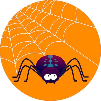Ilustração em vetor aranha bonito