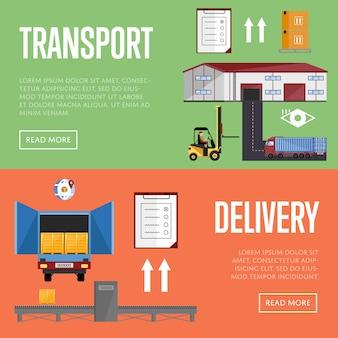 Ilustração em vetor armazém infográficos processo