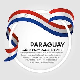 Ilustração em vetor bandeira de faixa de opções do paraguai em um fundo branco