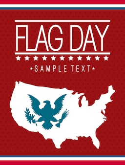 Ilustração em vetor bandeira dia fundo estados unidos