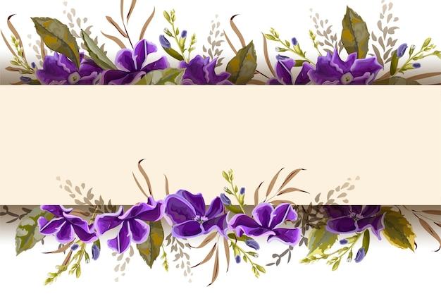Ilustração em vetor banner flores roxas