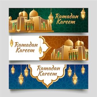 Ilustração em vetor banner islâmico ramadã