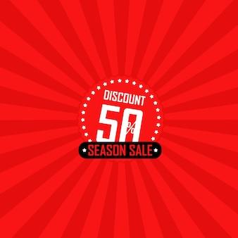 Ilustração em vetor banner venda temporada
