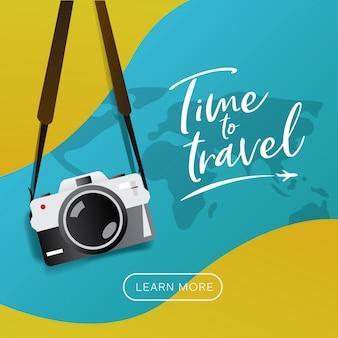 Ilustração em vetor banner viagens