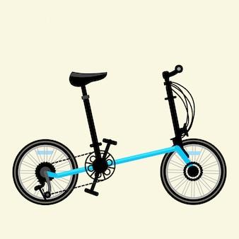 Ilustração em vetor bicicleta azul