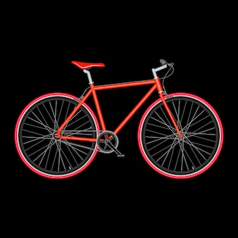 Ilustração em vetor bicicleta em fundo preto com qualidade de pôster
