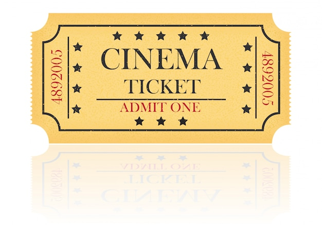 Ilustração em vetor bilhete de cinema