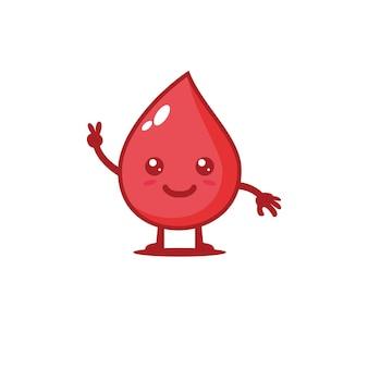Ilustração em vetor bonito grupo sanguíneo design de personagens medicina