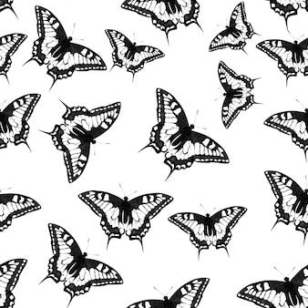 Ilustração em vetor borboleta padrão sem emenda