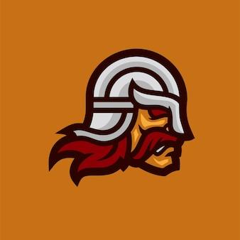 Ilustração em vetor cabeça guerreira cavaleiro