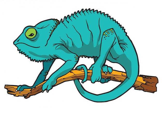 Ilustração em vetor camaleão