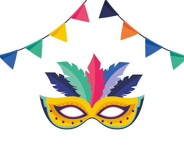 Ilustração em vetor carnaval máscara brasil