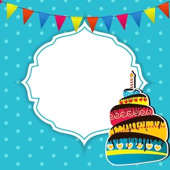 Ilustração em vetor cartão de feliz aniversário