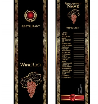 Ilustração em vetor cartão vinho