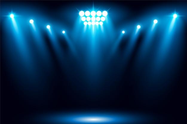 Ilustração em vetor cena iluminada palco luz spotlight
