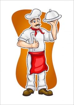 Ilustração em vetor chef dos desenhos animados