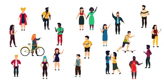 Ilustração em vetor cidade pessoas pessoa