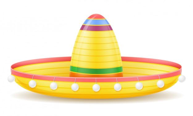 Ilustração em vetor cocar nacional mexicano sombrero