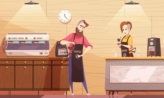 Ilustração em vetor coffee house