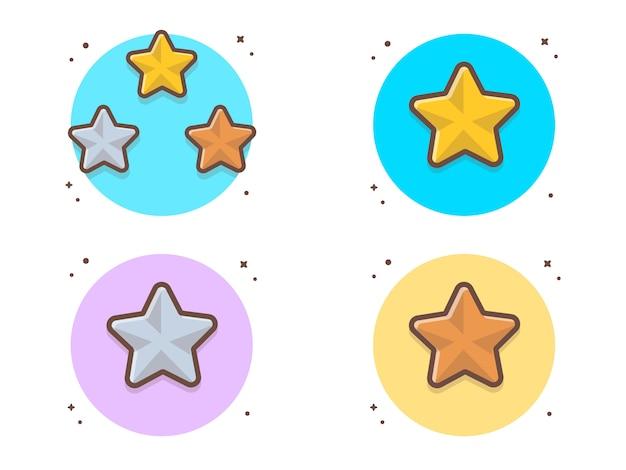 Ilustração em vetor coleção estrelas