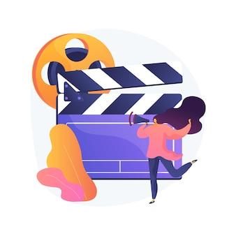Ilustração em vetor conceito abstrato de chamada de elenco. chamada aberta para modelos, tiroteios comerciais, casting de foto e vídeo, solicitação de agência de modelos, audição para metáfora abstrata de publicidade de marca.