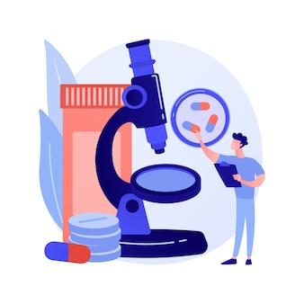 Ilustração em vetor conceito abstrato de monitoramento de drogas. monitoramento de drogas terapêuticas, atenção primária à saúde, tornozelo, química clínica, medição do nível de medicamento em metáfora abstrata de sangue.