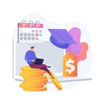 Ilustração em vetor conceito abstrato diferido pagamentos de empréstimo de estudante. pacote de estímulo do coronavirus, pausa ou suspensão do pagamento, obrigações financeiras, metáfora abstrata da crise econômica.