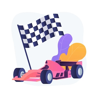 Ilustração em vetor conceito abstrato fórmula 1. condução extrema, esporte automobilístico, campeonato de automobilismo, assistir fórmula 1, piloto profissional, alta velocidade, metáfora abstrata do grande prêmio de corrida.