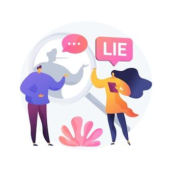 Ilustração em vetor conceito abstrato pós-verdade. discurso pós-verdade, filosofia moderna, fato alternativo, notícias falsas, propaganda cibernética, extremismo político, metáfora abstrata de emoção e crença.