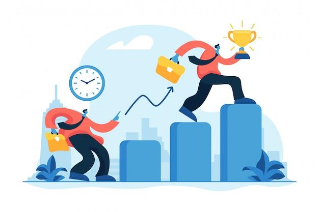Ilustração em vetor conceito auto-gestão