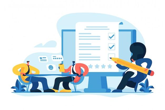 Ilustração em vetor conceito avaliação empregado