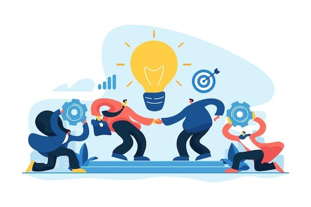 Ilustração em vetor conceito colaboração