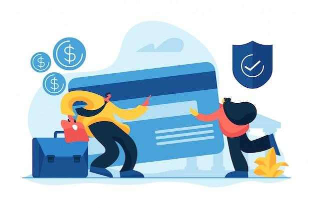 Ilustração em vetor conceito conta bancária