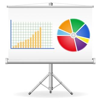 Ilustração em vetor conceito gráficos negócios