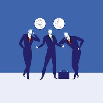 Ilustração em vetor conceito grande habilidades de comunicação.
