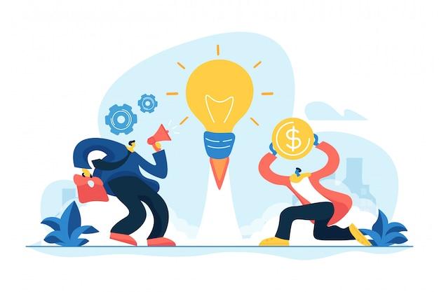 Ilustração em vetor conceito ideia empresarial