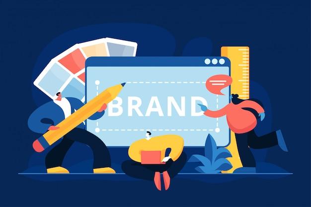Ilustração em vetor conceito identidade da marca