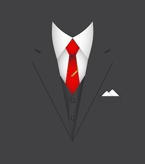 Ilustração em vetor conceito pessoa líder de terno de negócio