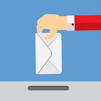 Ilustração em vetor conceito plana de votação. eps10