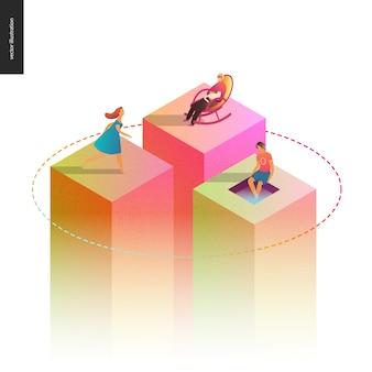 Ilustração em vetor conceito rede