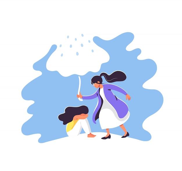 Ilustração em vetor conceito saúde mental