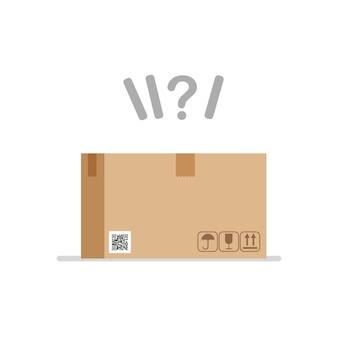 Ilustração em vetor conceito surpresa caixa concurso de mistério
