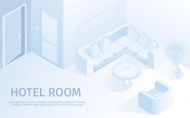 Ilustração em vetor confortável hotel apartamento