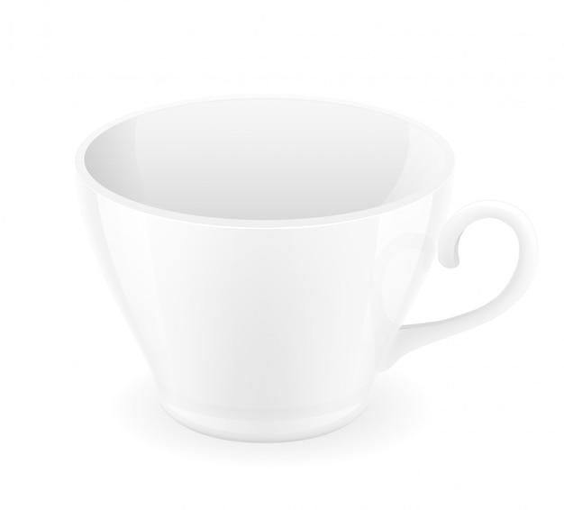 Ilustração em vetor copo de porcelana