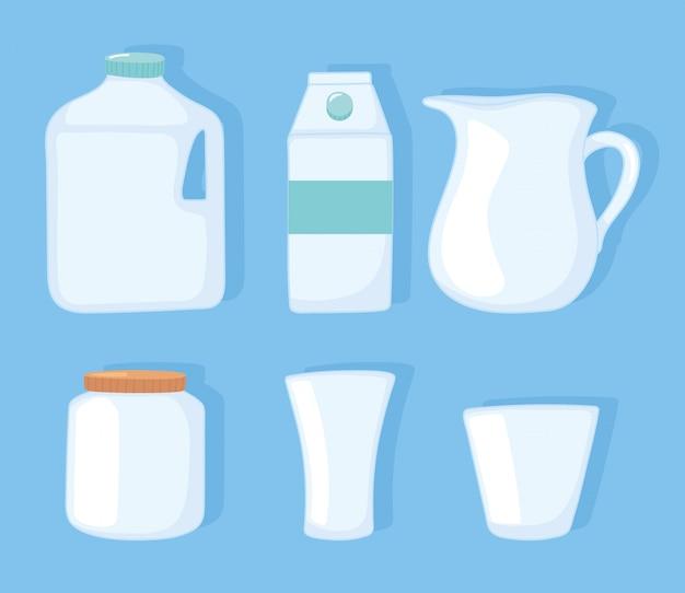 Ilustração em vetor copo e frasco de plástico ou de vidro