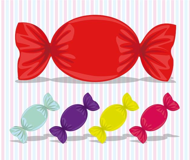 Ilustração em vetor cores doces doces sortidas