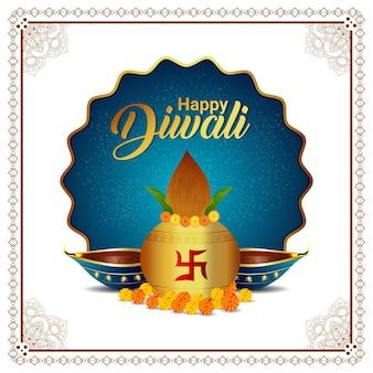 Ilustração em vetor criativo de cartão comemorativo de feliz diwali